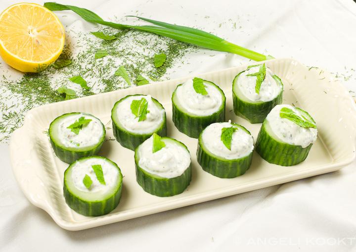 Gevulde komkommer tapas angeli kookt - De komkommers ...