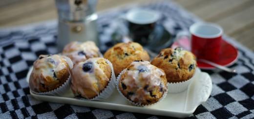 Yoghurtmuffins met blauwe bessen