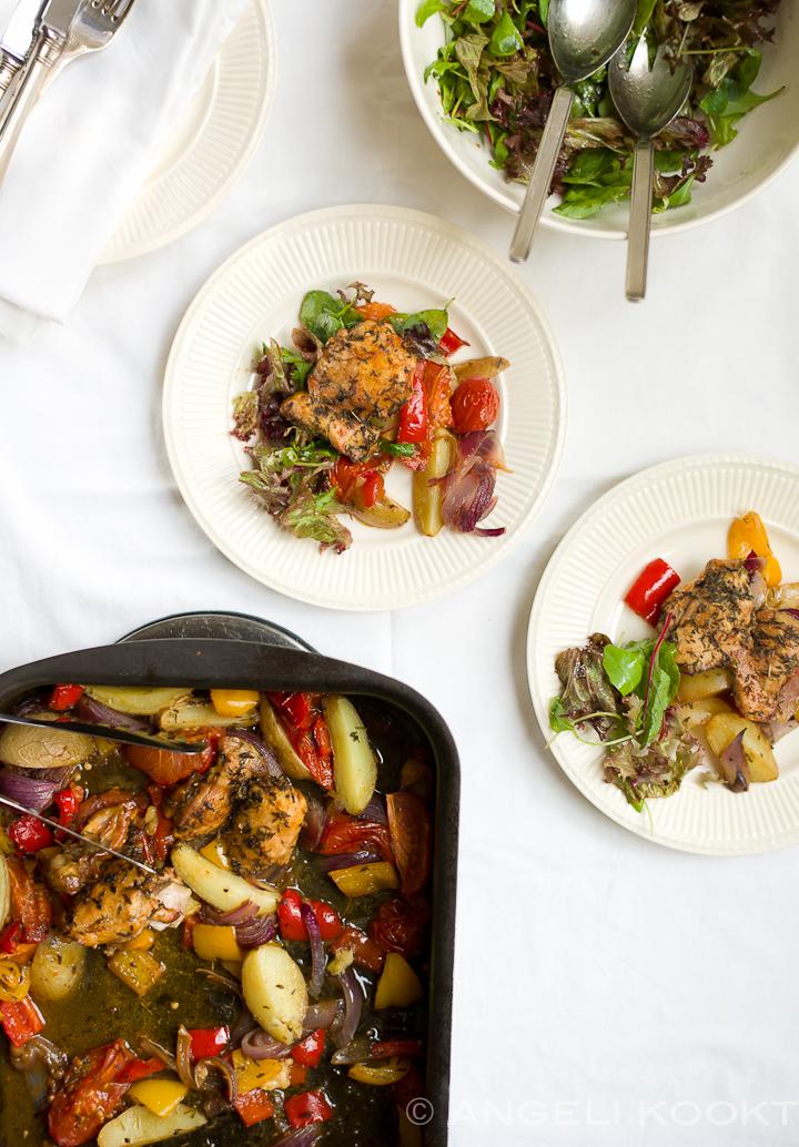 Kippendijen uit de oven - sticky chicken