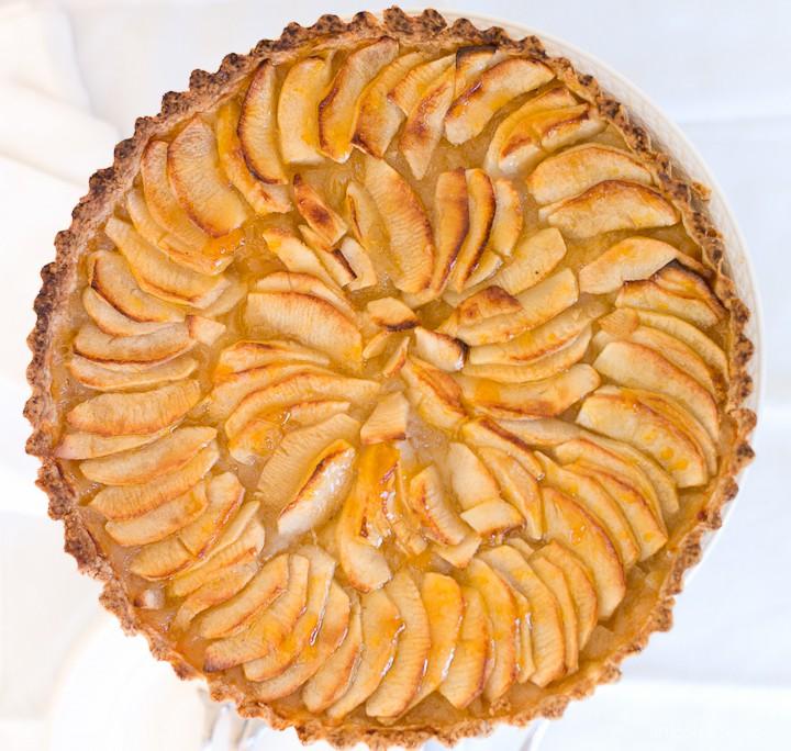 heerlijke appeltaart met custard