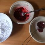 Ingrediënten roze glazuur