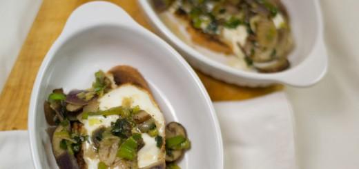 Crostini met champignons