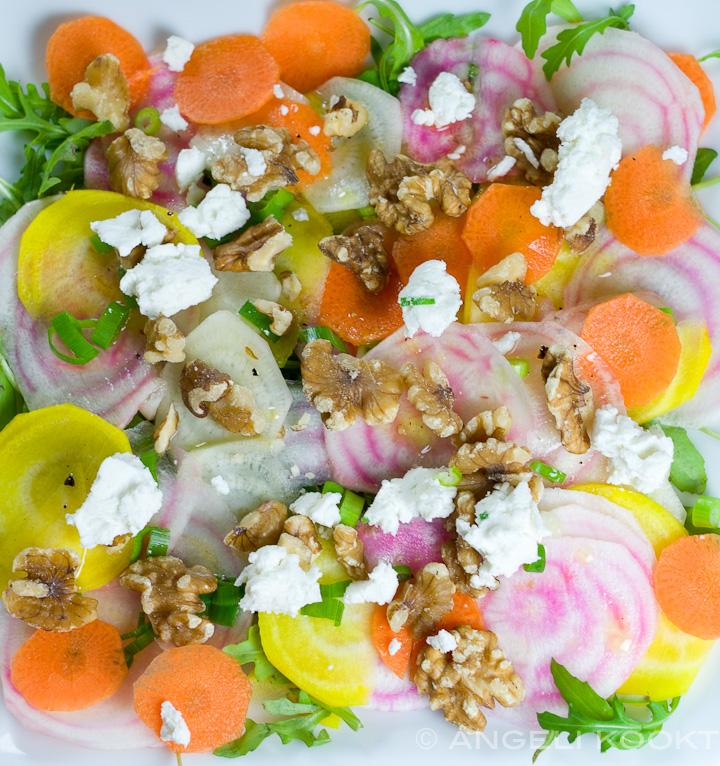 Gekleurde bietjessalade