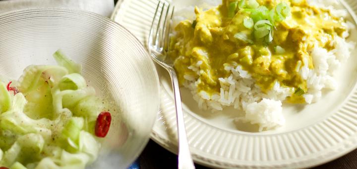 Kip kerrie met rijst