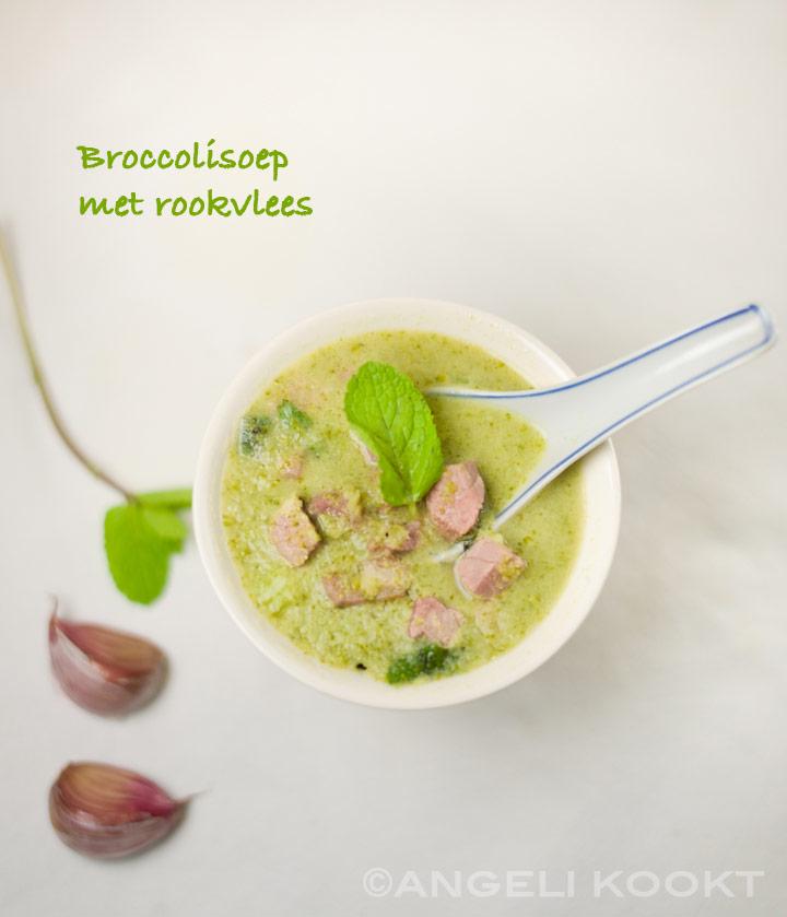Broccolisoep met rookvlees