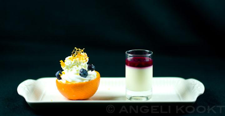 Mousse en pannacotta dessert