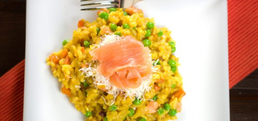 Risotto met gerookte zalm