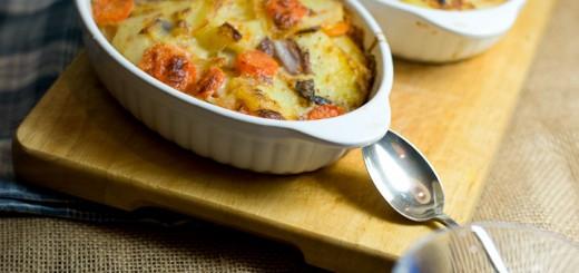 aardappel wortelgratin