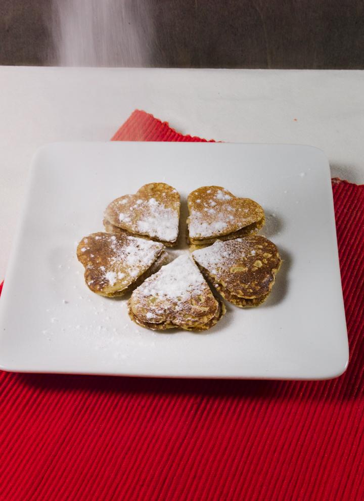 Valentijn pannenkoekjes