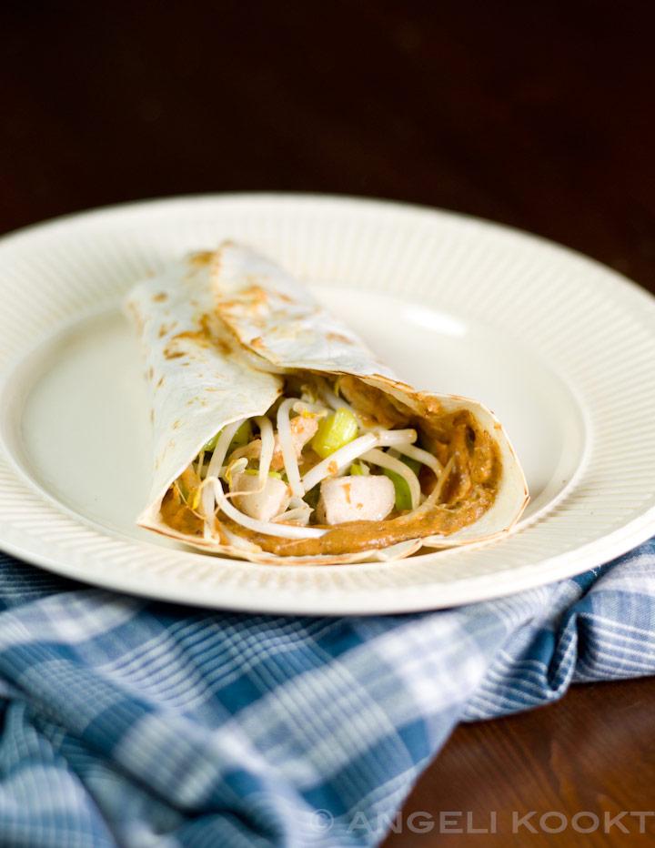 Tortilla wrap met kip