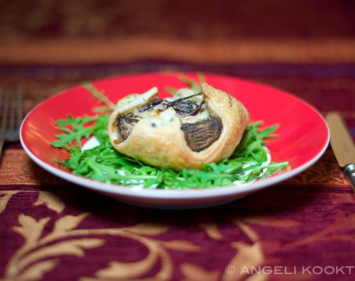 Portobello met gorgonzolasaus
