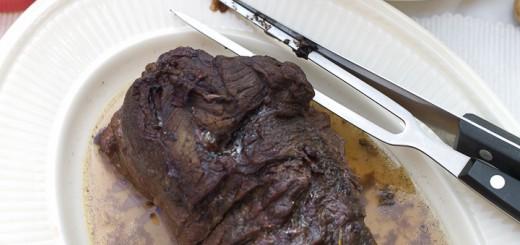 Kalfssukade langzaam gegaard in de oven