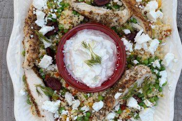 Griekse kip met couscous