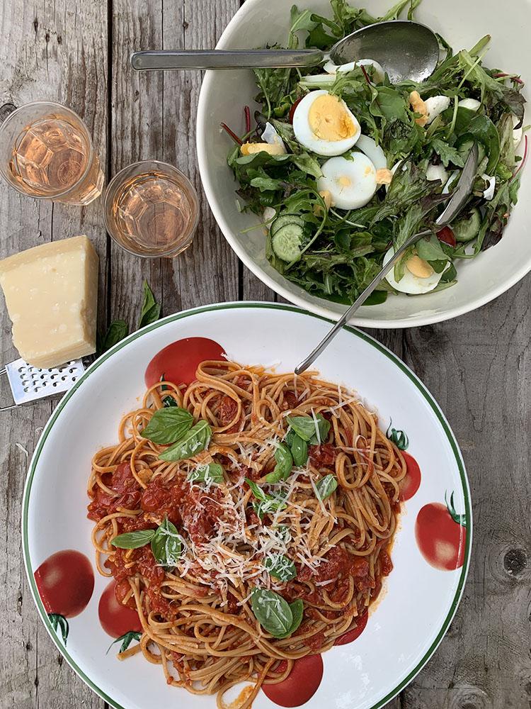 Spaghetti met kerstomatensaus